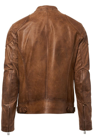 Maxford Perforated Leather Jacket