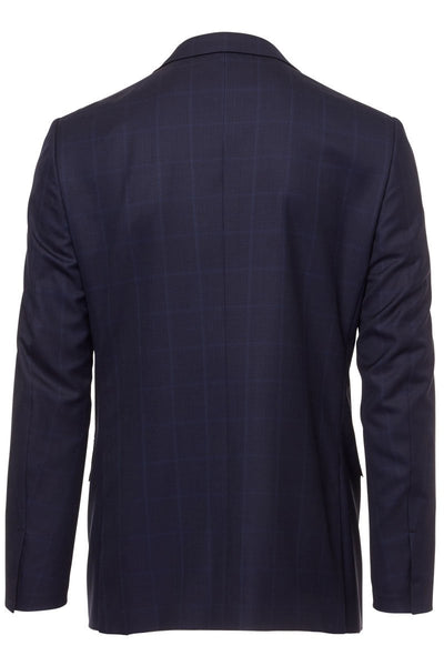 , Silk-Wool Windowpane Suit