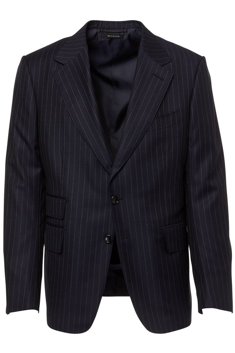 Tom Ford, Navy Pinstripe Shelton Suit