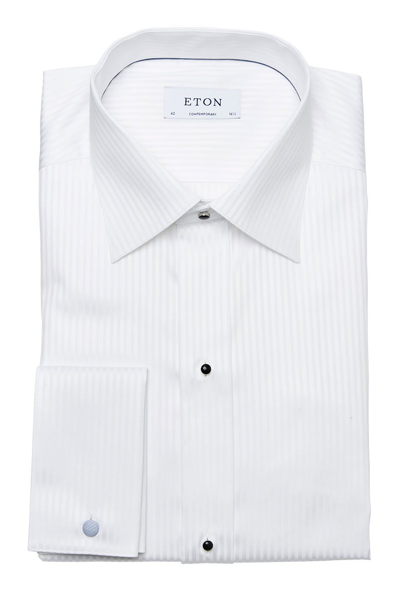 Eton, Satin Striped Evening Shirt