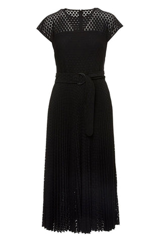 , Circled Lace Midi Dress