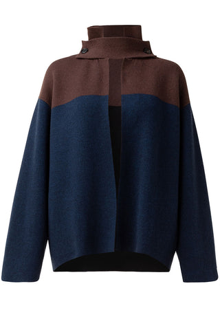 Reversible Two-Tone Cardigan