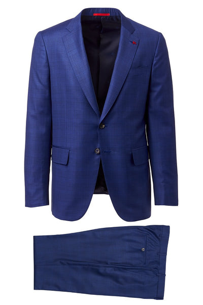 Isaia, Aquaspider Plaid Suit