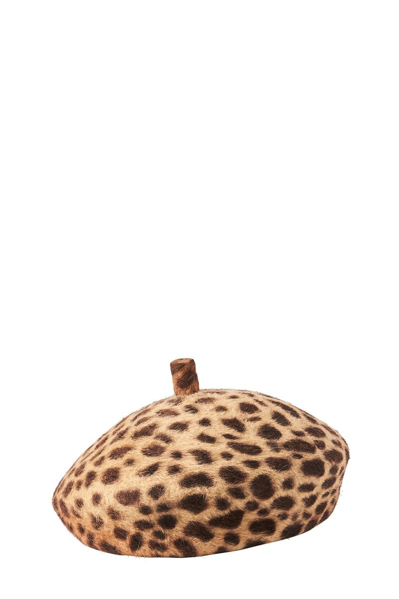 Leopard Frenchy Beret