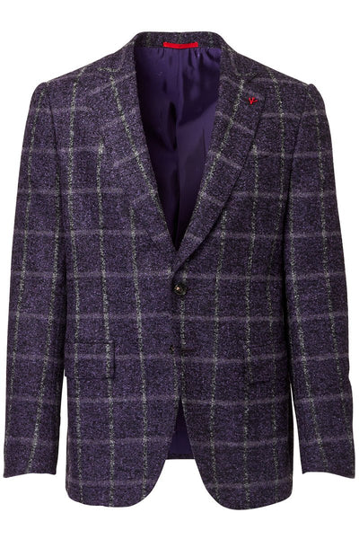 ISAIA, Brushed Windowpane Sportcoat