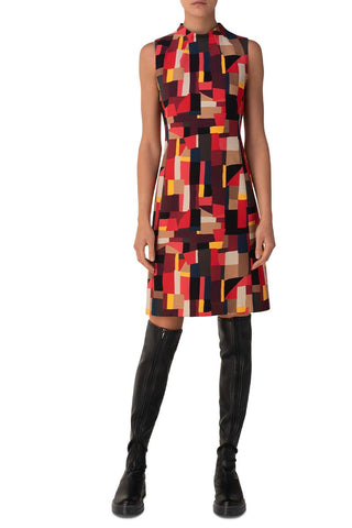 Graphic Print Sheath Dress