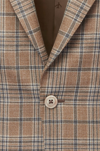 ISAIA, Tan Plaid Sportcoat