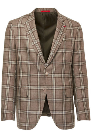 ISAIA, Tan Check Sportcoat