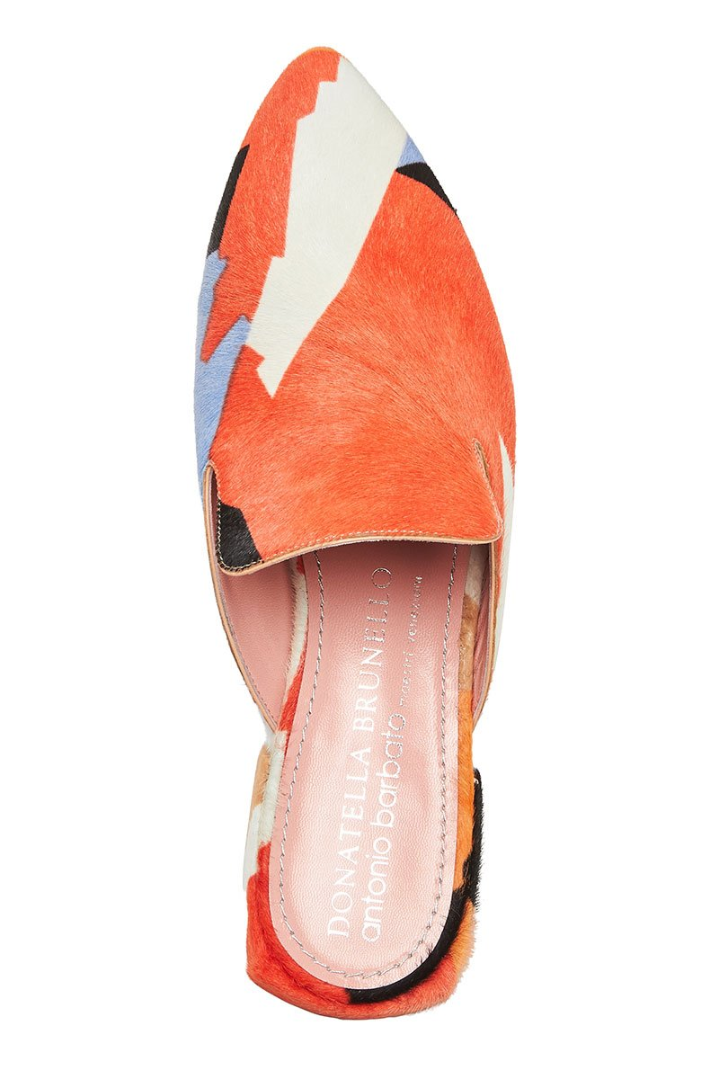 Antonio Barbato, Pony Hair Geometric Mules