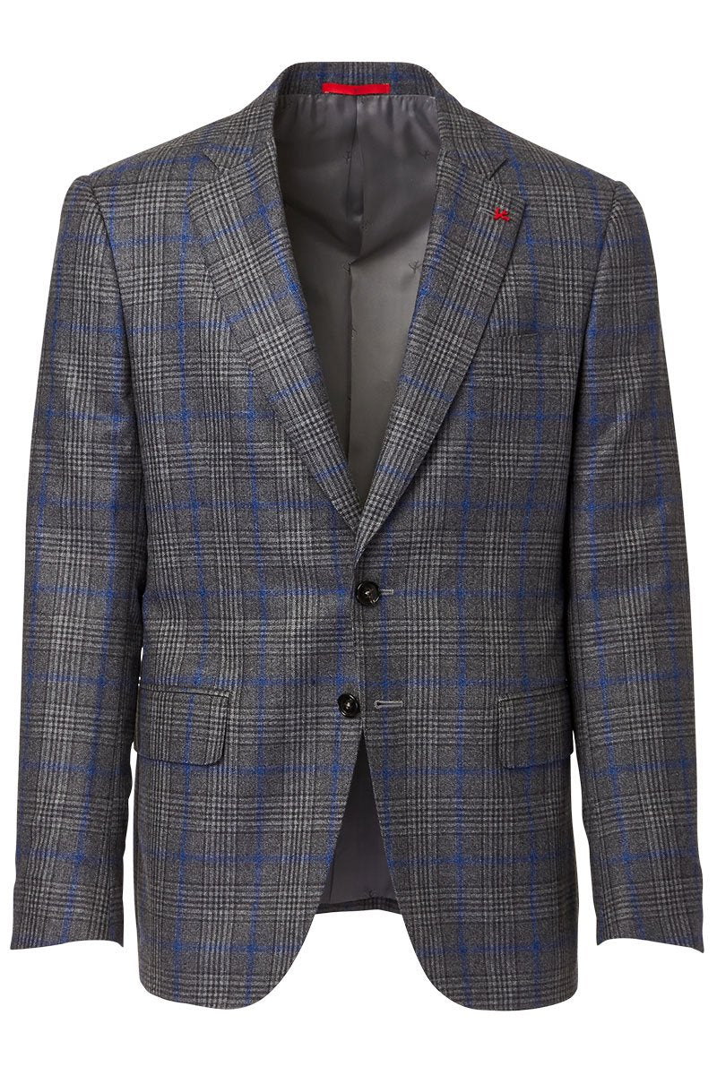 ISAIA, Windowpane Plaid Sportcoat
