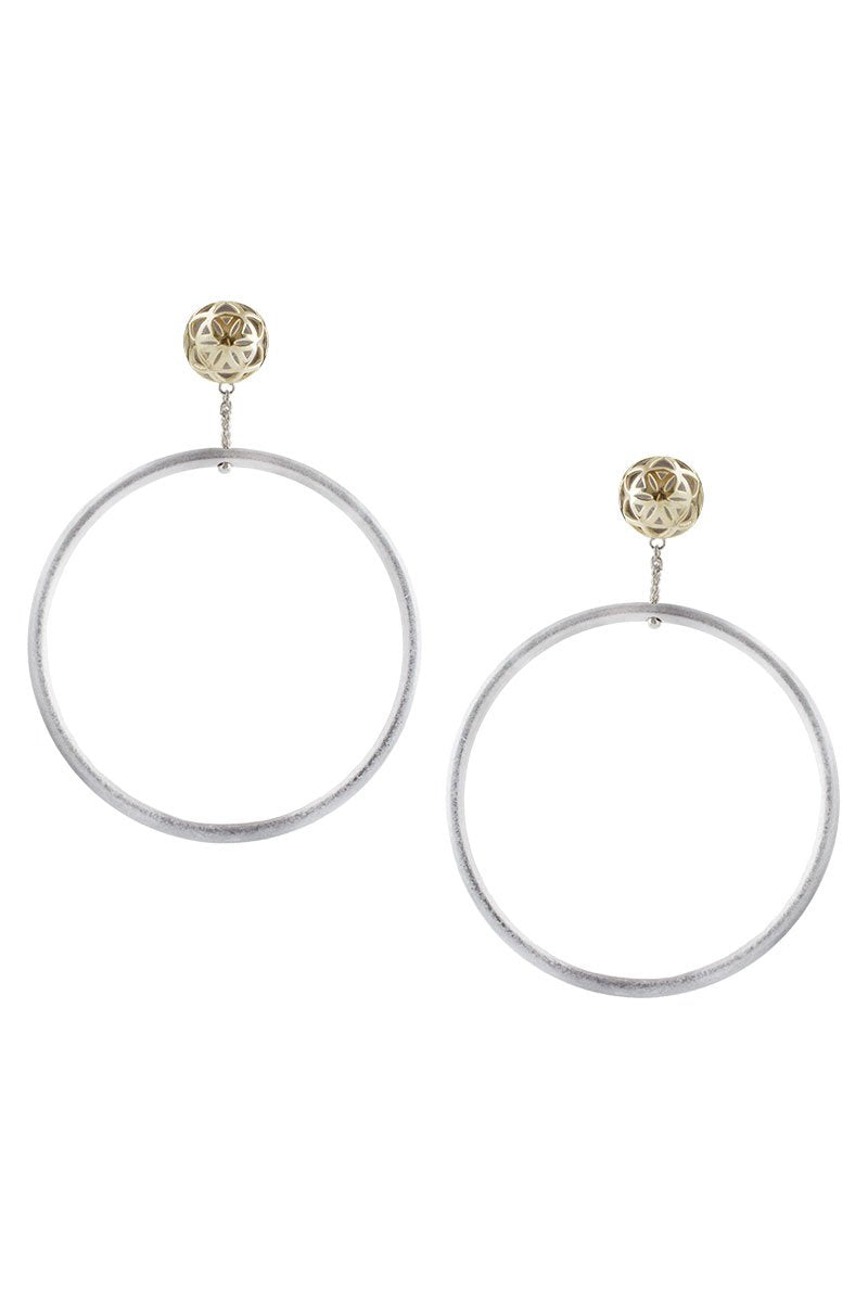 Angela Seed of Life Hoop Earrings
