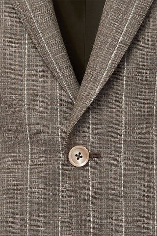 Tan Pinstripe Suit