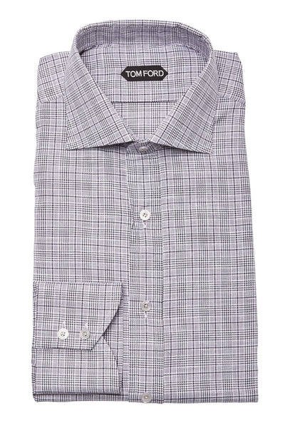 Tom Ford, Houndstooth Plaid Dress Shirt