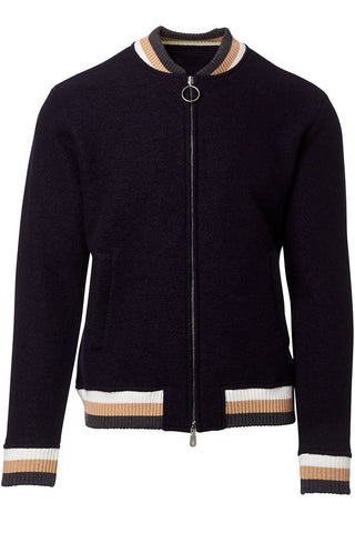 Boiled Wool Bomber Jacket