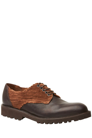 Corduroy Derby Shoes