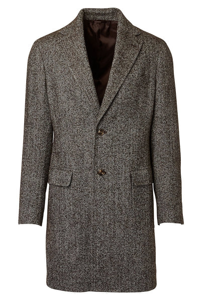 Barba, Lang Herringbone Overcoat