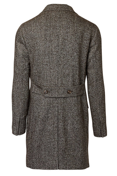, Lang Herringbone Overcoat