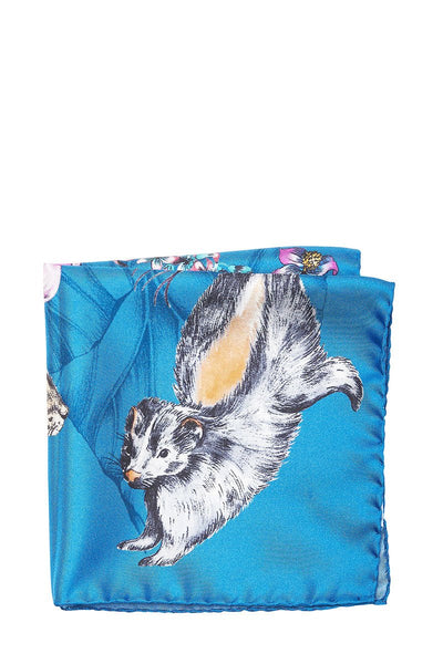 Eton, Hare & Skunk Pocket Square