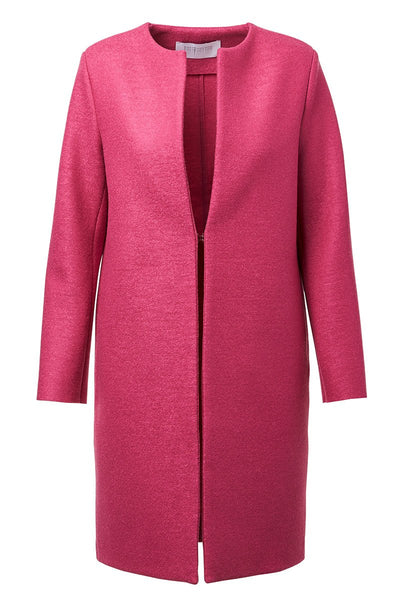 Harris Wharf London, Pressed Wool Collarless Coat