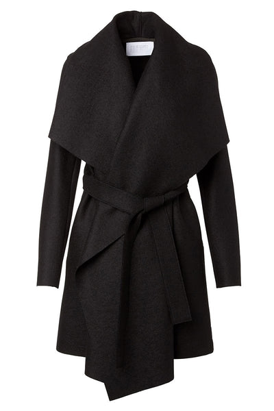 , Pressed Wool Blanket Coat