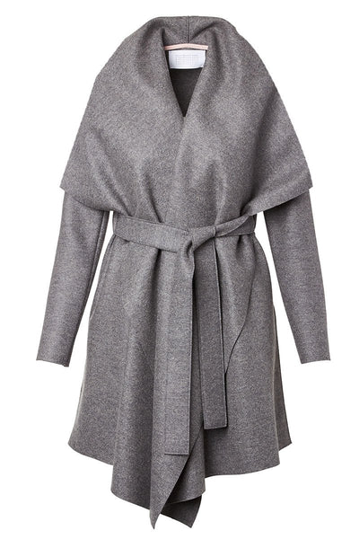 Pressed Wool Blanket Coat