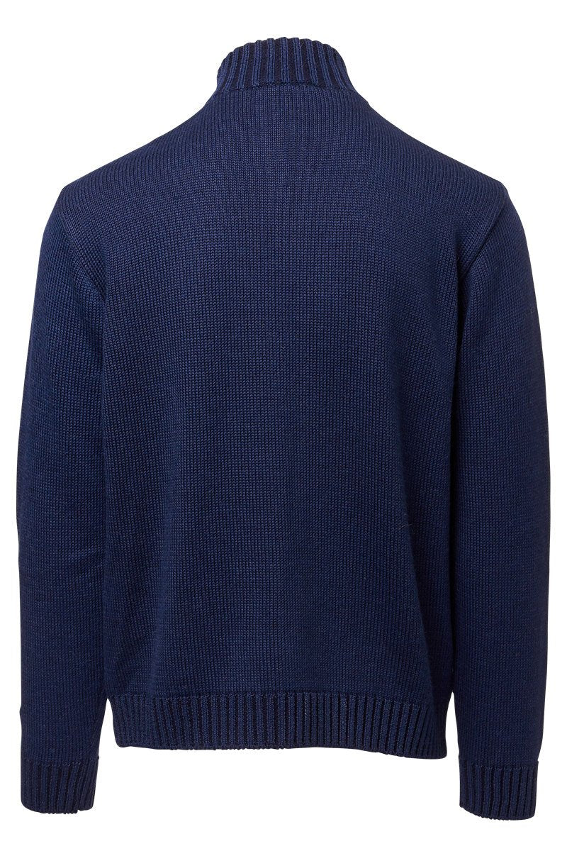 Inis Meain, Plated Mock Zip Sweater