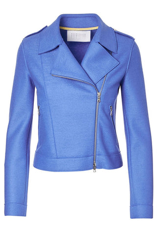 Pressed Wool Biker Jacket