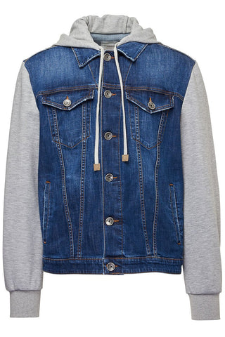 Eleventy, Hooded Denim Trucker