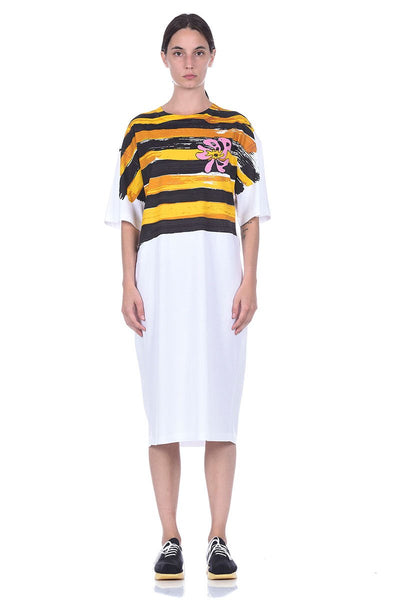 Brushstrokes T-Shirt Dress