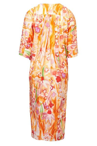 Marni, Belted Watercolor Floral Dress