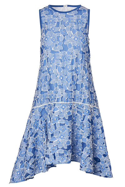 Mantù, Floral Flounce Hem Dress