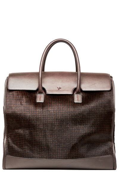 Isaia, Houndstooth Calf Hair Weekender