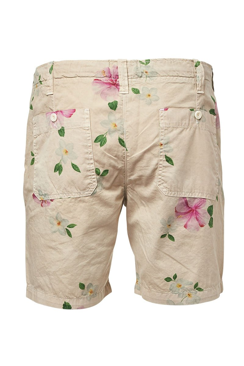 Hartford, Hibiscus Printed Berry Shorts