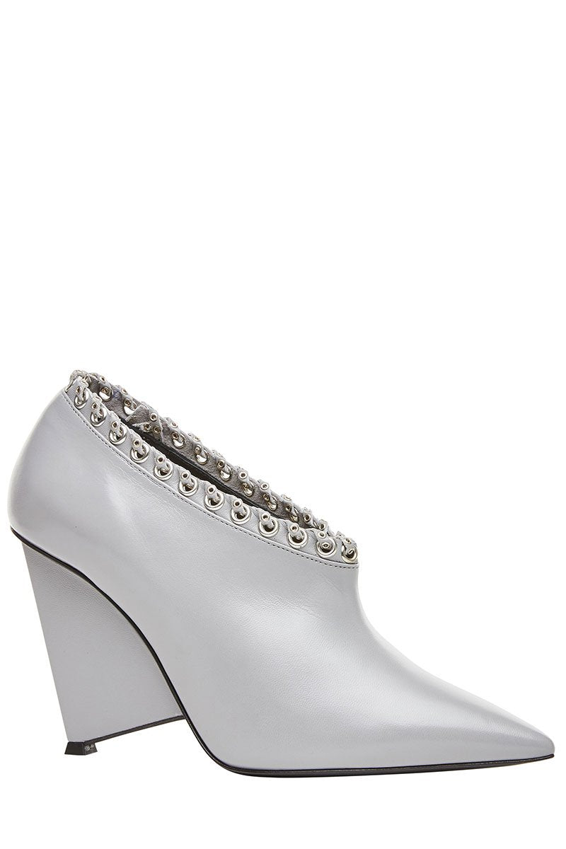 Eyelet Embellished Booties