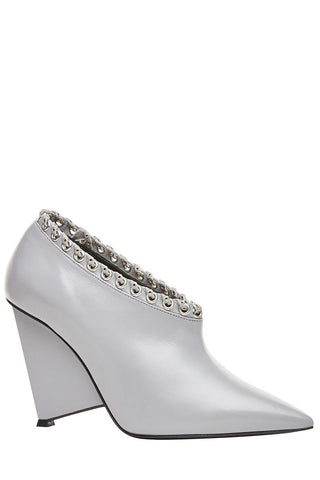 , Eyelet Embellished Booties