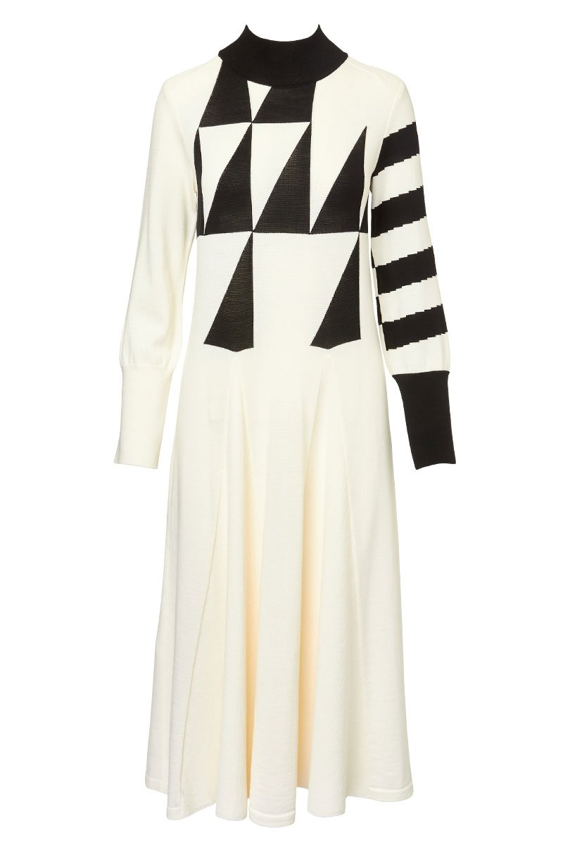 Akira Naka, Geometric Knit Dress