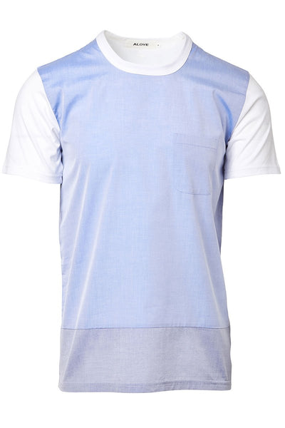 Aloye, Blue Chambray Tee