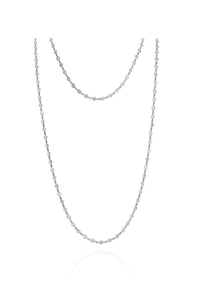 Boyds Essentials, Platinum Bezel Set Diamond Chain