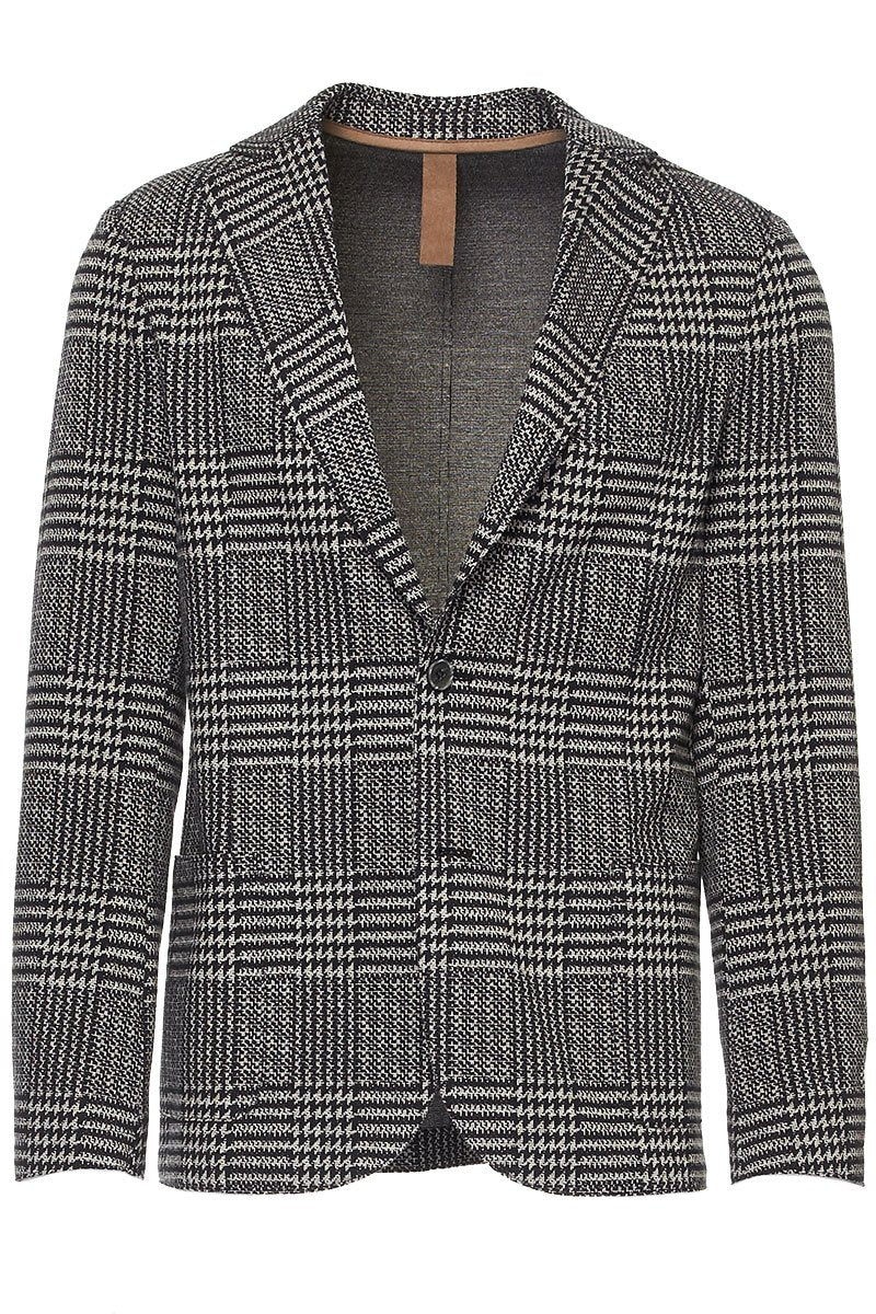 Glen Plaid Soft Jacket