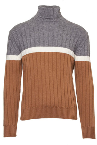 Colorblock Turtleneck