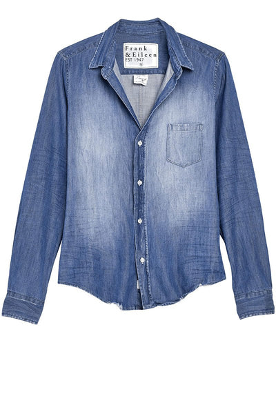 Barry Distressed Famous Denim Shirt