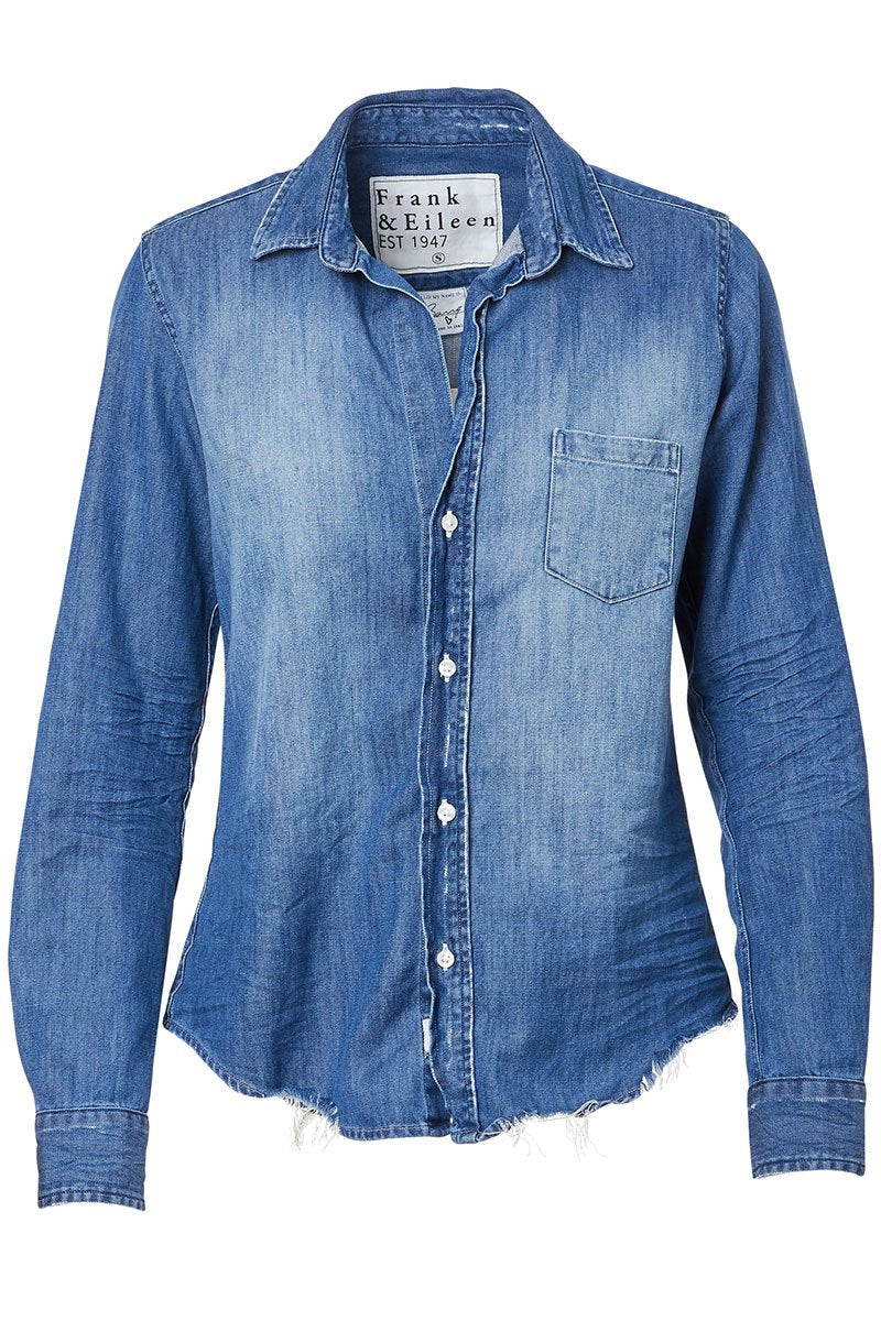 Barry Distressed Button Front Shirt