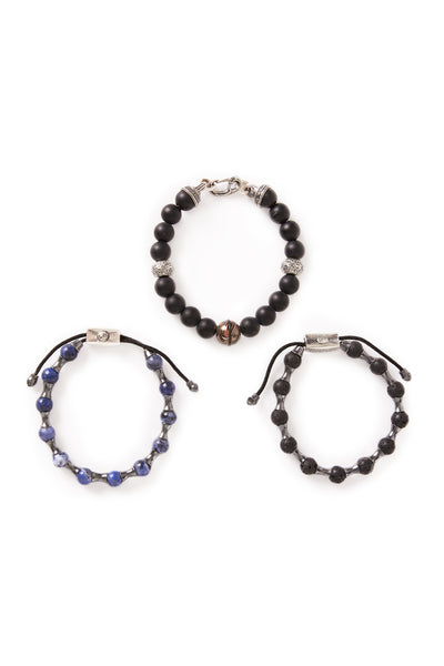 William Henry, Sodalite & Mokume Bracelets
