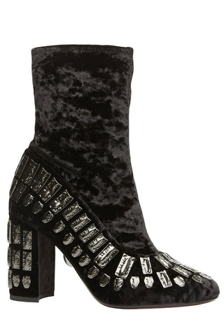 Bea Velvet Embellished Booties