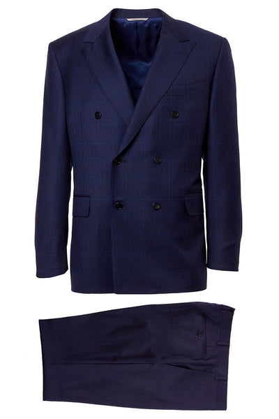 Canali, Double Breasted Plaid Suit