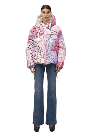 Khris Multi Bandana Puffer Coat