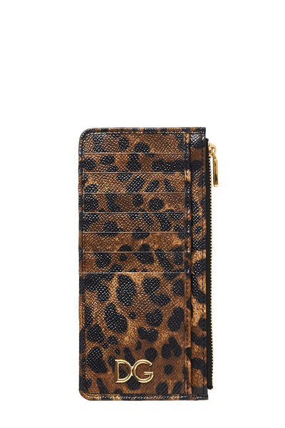 Dolce & Gabbana, Leopard Vertical Card Holder
