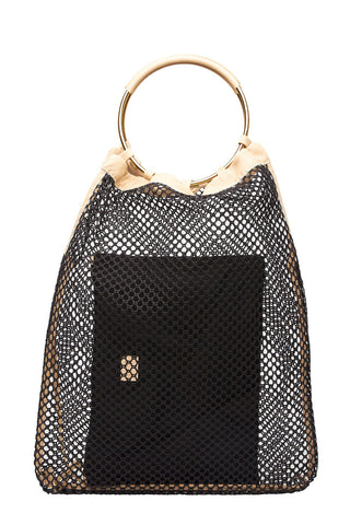 Arron, Double Ring Net Handbag