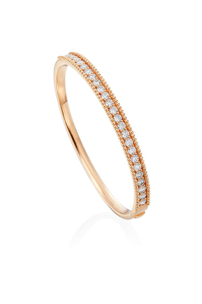 Boyds Essentials, 18kt Rose Gold Diamond Bangle Bracelet