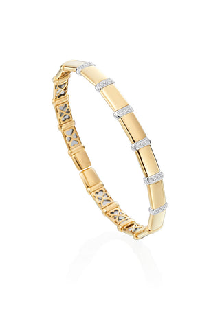 Boyds Essentials, 18kt Yellow Gold Flexible Diamond Bangle